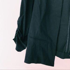 torrid Jackets & Coats - TORRID DELUXE STRETCH RUCHED SLEEVED BLAZER